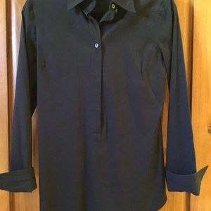 Dolce & Gabbana Black Fitted Tunic Blouse